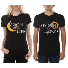 Moon Of My Life & My Sun And Stars  Çift T-shirt